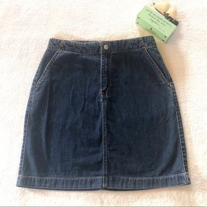 Levi's Red Tab Denim Skirt Authentic Sz S / JR 3